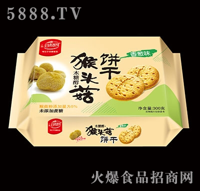 谷悦园猴头菇饼干香葱味300克产品图