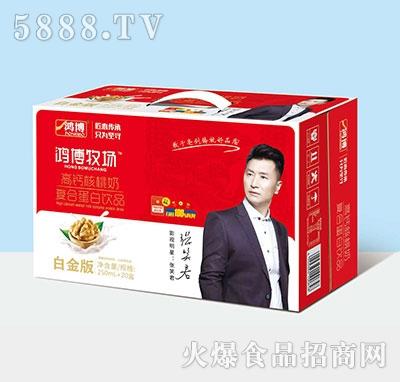 鸿博高钙核桃奶复合蛋白饮品250ml×20盒产品图