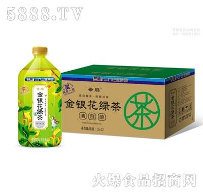 茶扇金�y花�G茶1LX12