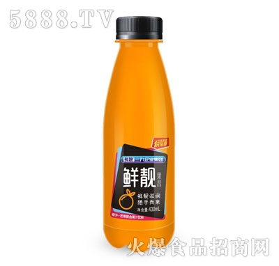 鲜靓果昔橙子+芒果复合果汁饮料430ml