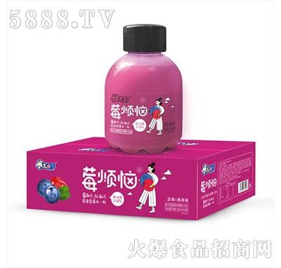 三色牛莓烦恼复合乳酸菌果汁饮料箱装