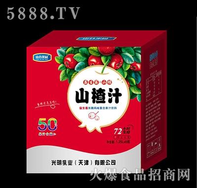 山谷果园益生菌发酵山楂汁1.25L×6瓶