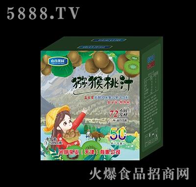 山谷果园益生菌发酵猕猴桃汁1.25×6瓶
