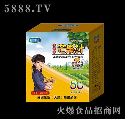 山谷果园益生菌发酵芒果果汁1.25L×6瓶
