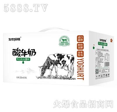 牧牛庄园原味酸牛奶200mlX16