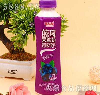 味益纯蓝莓果粒奶500ml