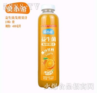 莫小希益生菌发酵复合果汁橙汁488ml