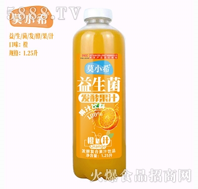 莫小希益生菌发酵复合果汁橙汁1.25L