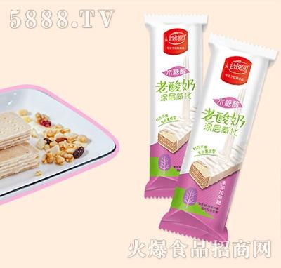 谷悦园老酸奶涂层威化饼干500g产品图