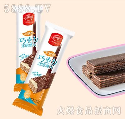谷悦园巧克力涂层威化饼干500g产品图