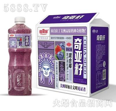 维果命混合莓复合果粒果汁1.25LX6