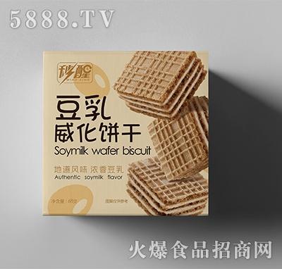 秒醒豆乳威化饼干68克