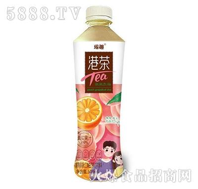 臻趣港茶桃桃红柚茶饮料500ml