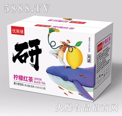 优果缘柠檬红茶果汁茶458mlx15
