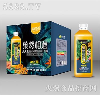 发财雨菓然相遇芒果益生菌发酵风味复合果汁1.2Lx6瓶