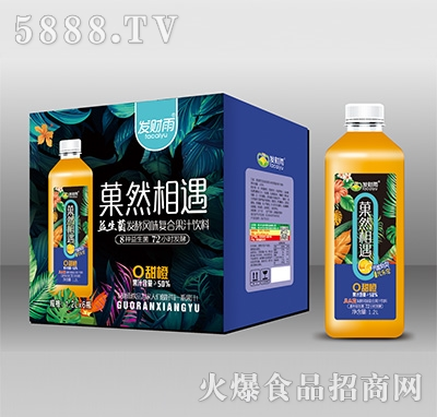 发财雨菓然相遇甜橙益生菌发酵风味复合果汁1.2Lx6瓶