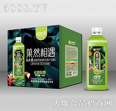 发财雨菓然相遇奇异果益生菌发酵风味复合果汁1.2Lx6瓶