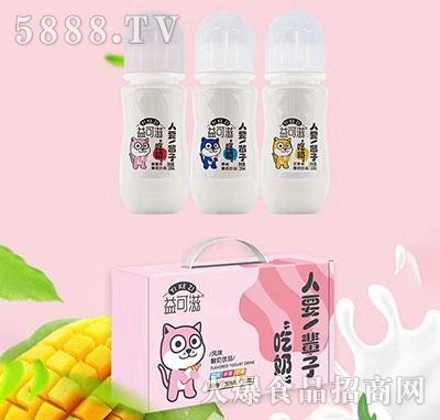 益可滋带奶嘴玻璃瓶发酵酸奶饮品280mlx6瓶