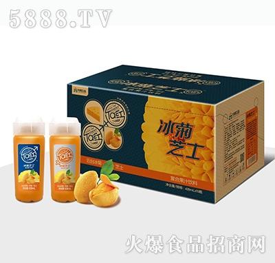 元岸饮品冰菊芝士芒果复合果汁饮料439mlx15瓶
