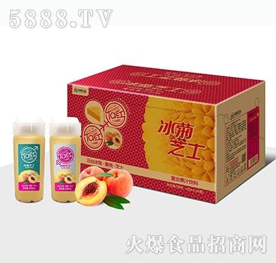 元岸饮品冰菊芝士蜜桃复合果汁饮料439mlx15瓶