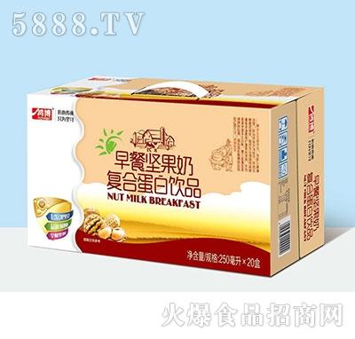 鸿博早餐坚果奶复合蛋白饮品250ml×20盒产品图