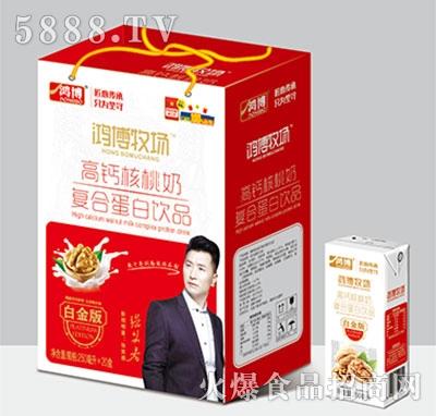 鸿博高钙核桃奶复合蛋白饮品250×20盒