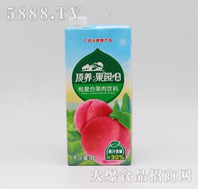 顶养果园桃汁复合果肉饮料1L