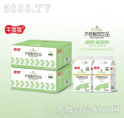 牛加加芦荟酸奶饮品458g