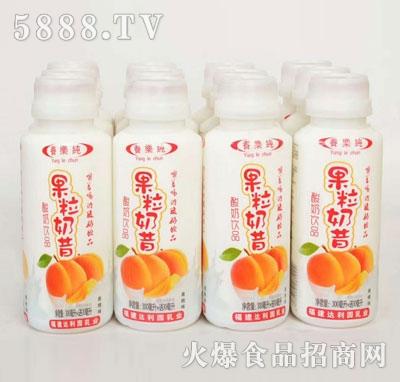 养乐纯果粒奶昔酸奶饮品黄桃味