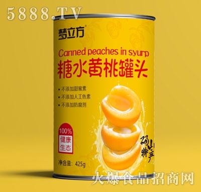梦立方糖水黄桃罐头425g