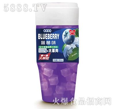 恋爱果实益生菌蓝莓果粒果汁380ml