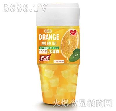 恋爱果实益生菌鲜橙果粒果汁380ml