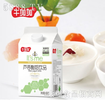 牛加加芦荟酸奶饮品458g1