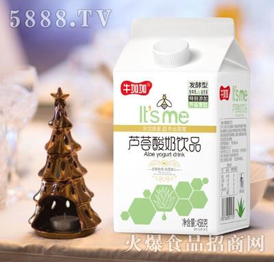 牛加加芦荟酸奶饮品458克1