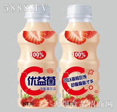 优益菌乳酸菌饮品草莓味340ml