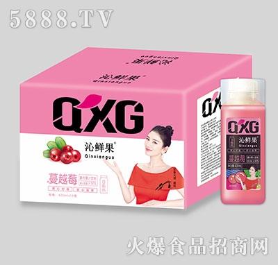 沁鲜果+蔓越莓复合果汁饮料420ml×15瓶