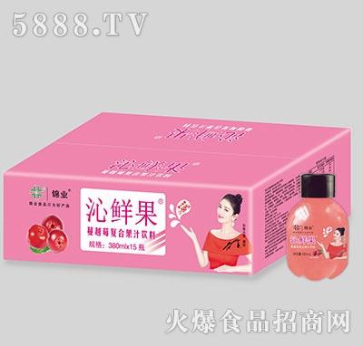 锦业沁鲜果蔓越莓复合果汁饮料380ml×15瓶