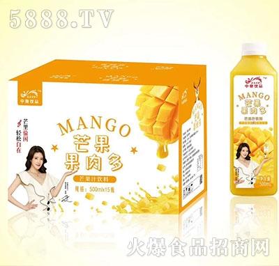 中奥饮品果肉多芒果果汁500mlx15