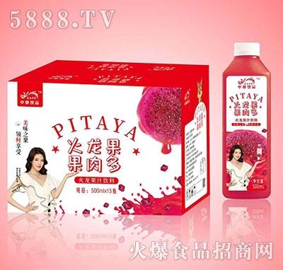 中奥饮品果肉多火龙果果汁500mlx15