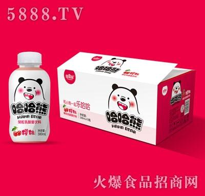 哈哈熊果粒乳酸菌饮料380mlX15