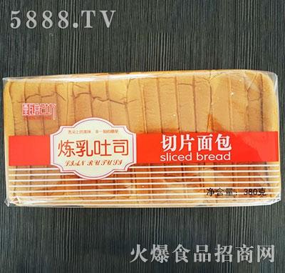 甄记坊炼乳吐司切片面包380g