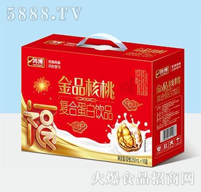 鸿博金品核桃复合蛋白饮品250ml×16盒产品图