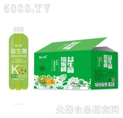 白小乐益生菌猕猴桃味饮料500mlX15