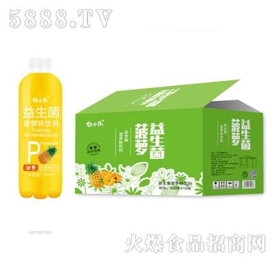 白小乐益生菌菠萝味饮料500mlX15