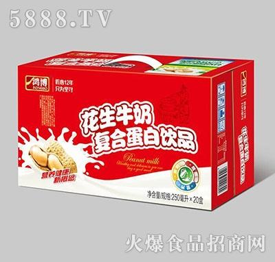 鸿博花生牛奶复合蛋白饮品250ml×20盒产品图