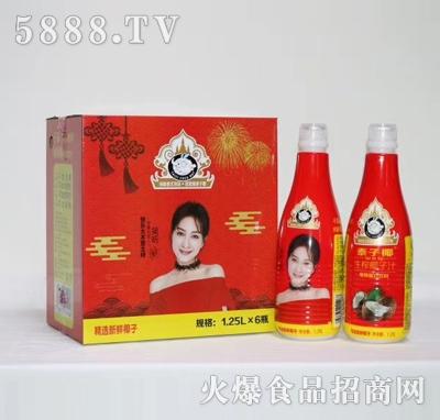 泰子椰生榨椰子汁1.25LX6红