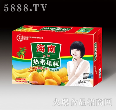 海南热带果粒混合风味果汁饮品240ml罐