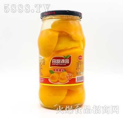 田甜源园黄桃罐头1kg