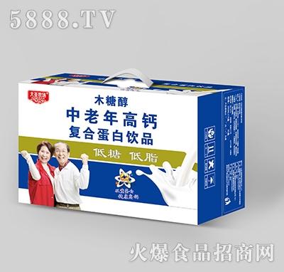 大圣牧场木糖醇中老年高钙复合蛋白饮品箱装