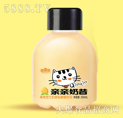 维果命黄桃芝士奶昔乳酸菌饮品350ml